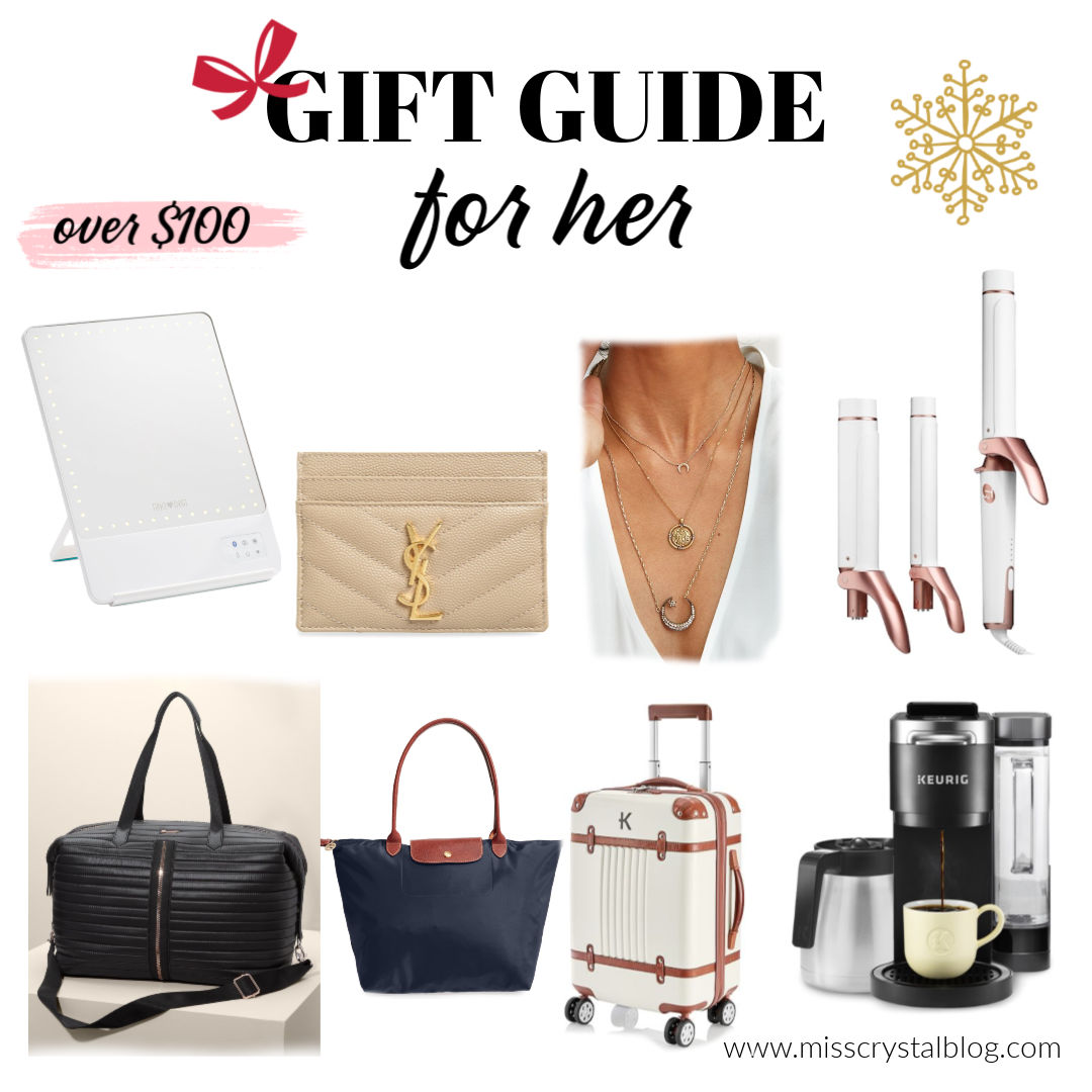 gift guide for her luxury gifts over 100 MissCrystalblog