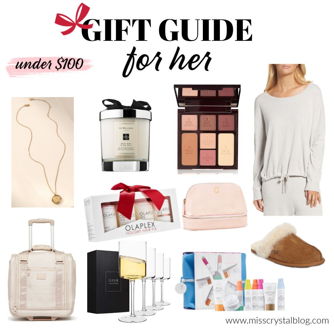 gift guide for her under 100 MissCrystalblog