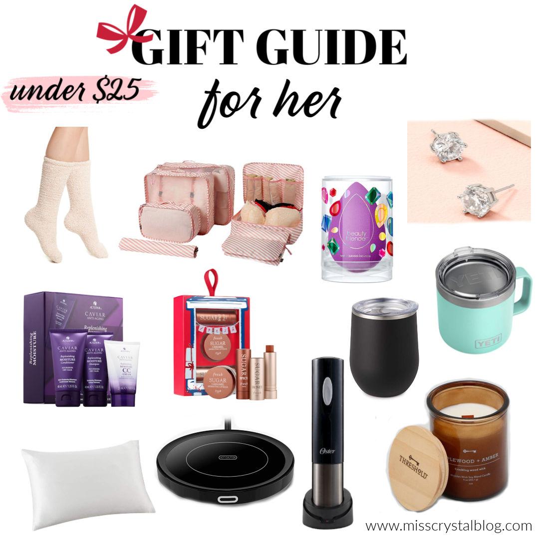 Gift Guide For Her Under 25 MissCrystalblog
