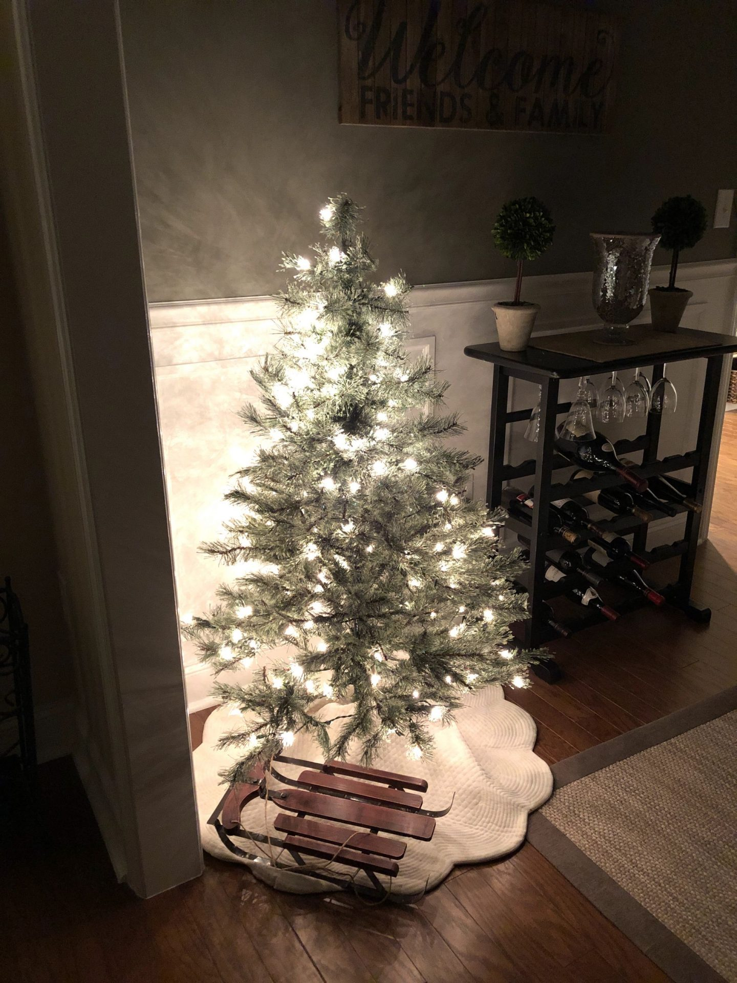 dining room Christmas tree night misscrystal