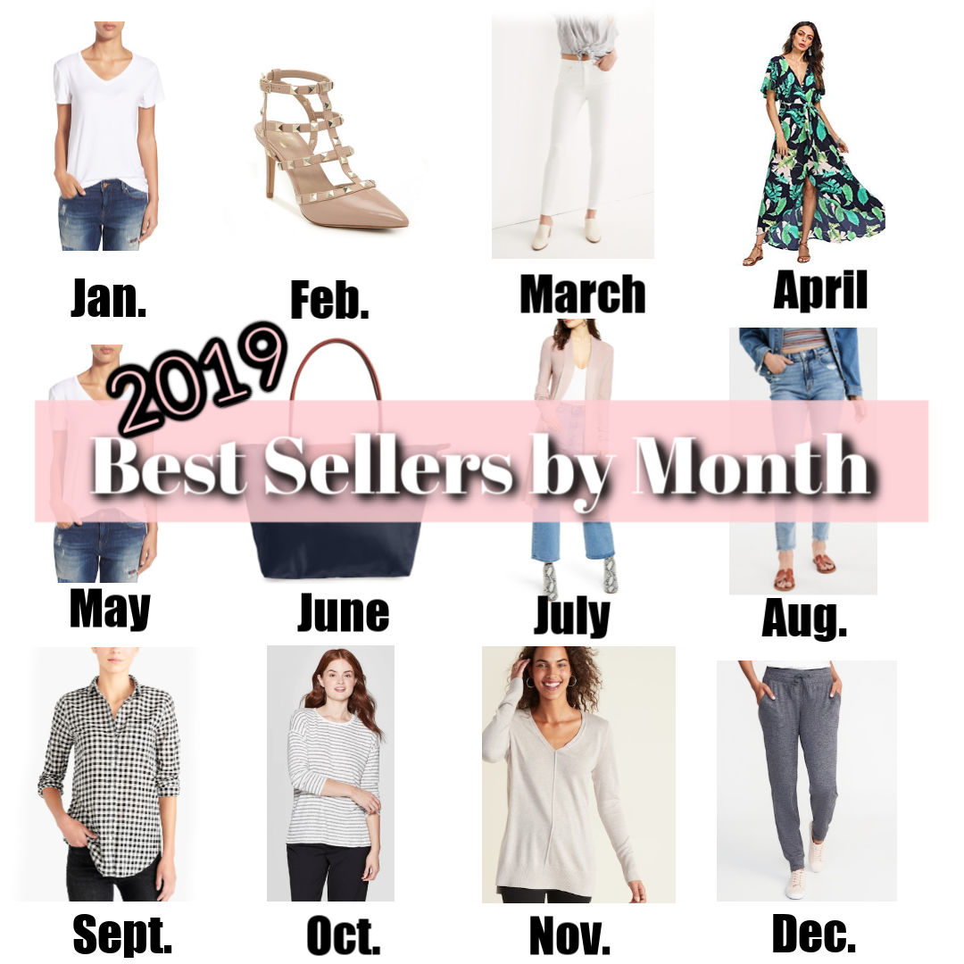 top sellers by month 2019