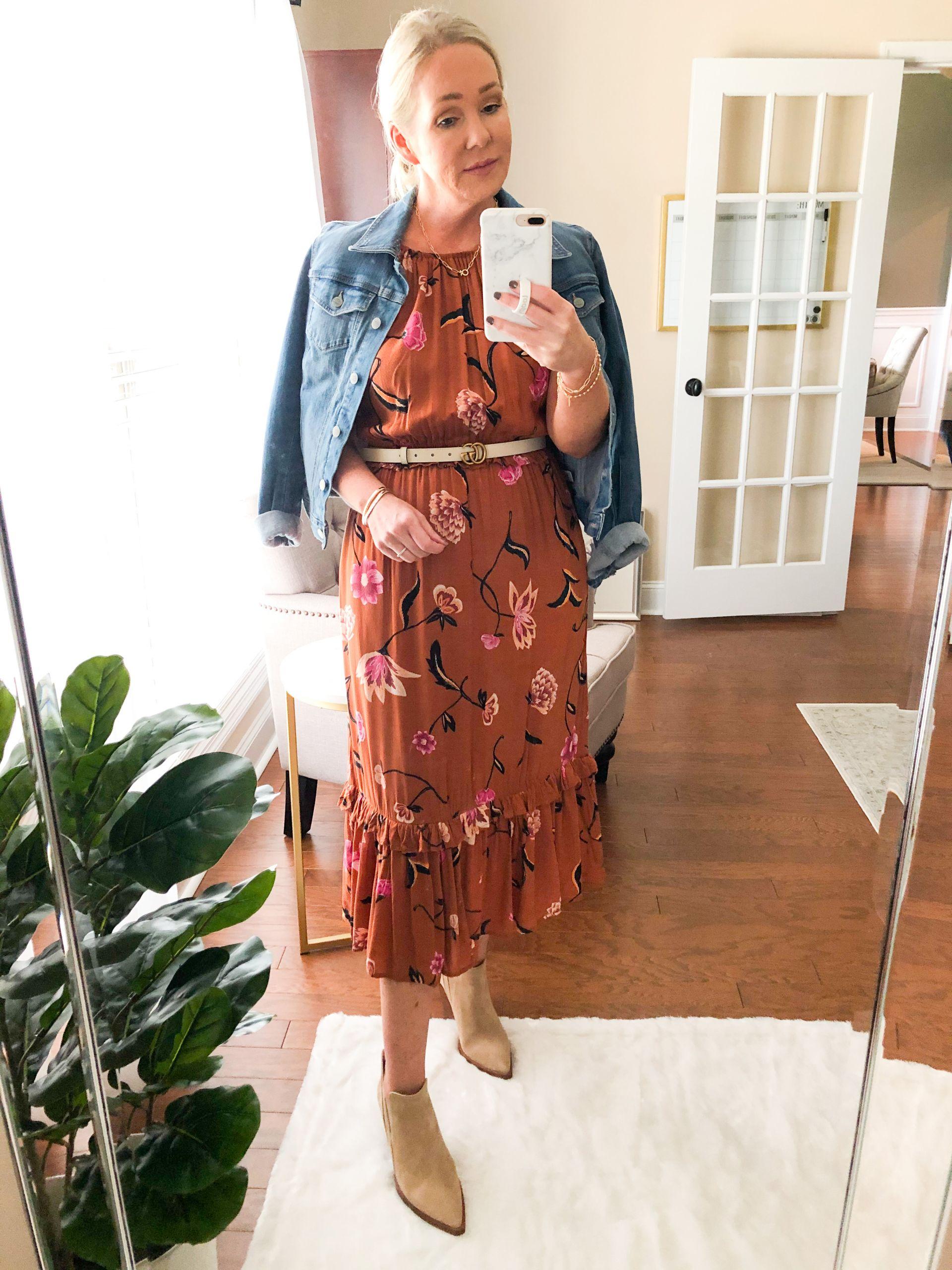Target fall midi dress misscrystalblog