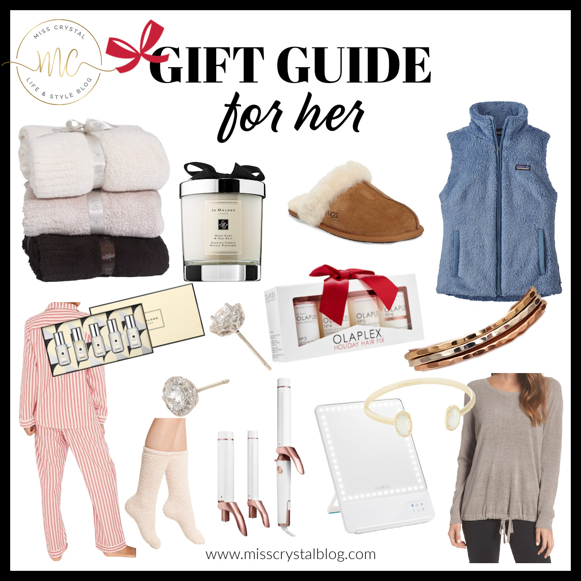 gift guide for her 2020 misscrystal