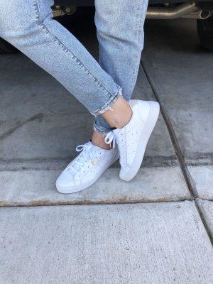 White Adidas Sneakers misscrystalblog