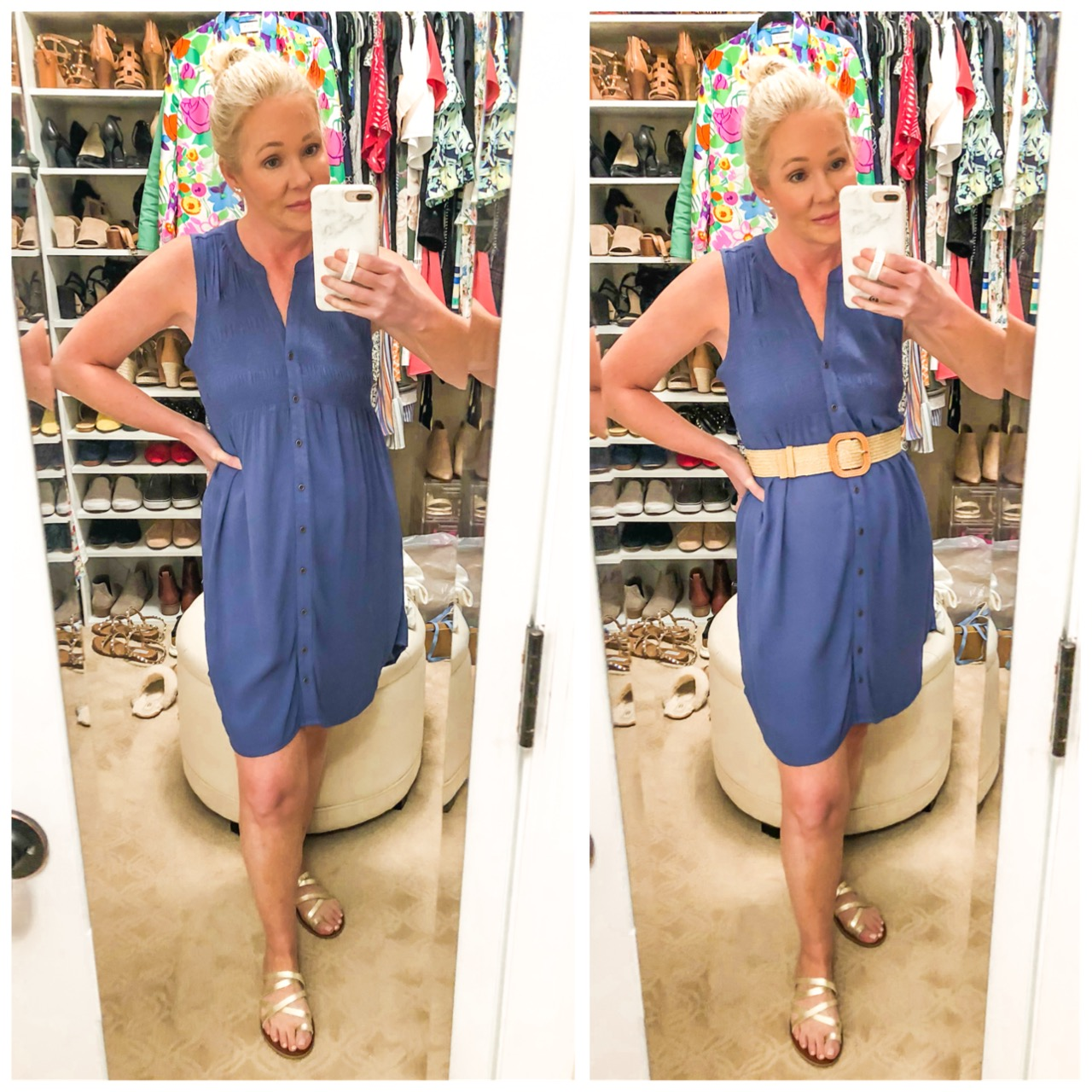 Target blue dress misscrystalblog