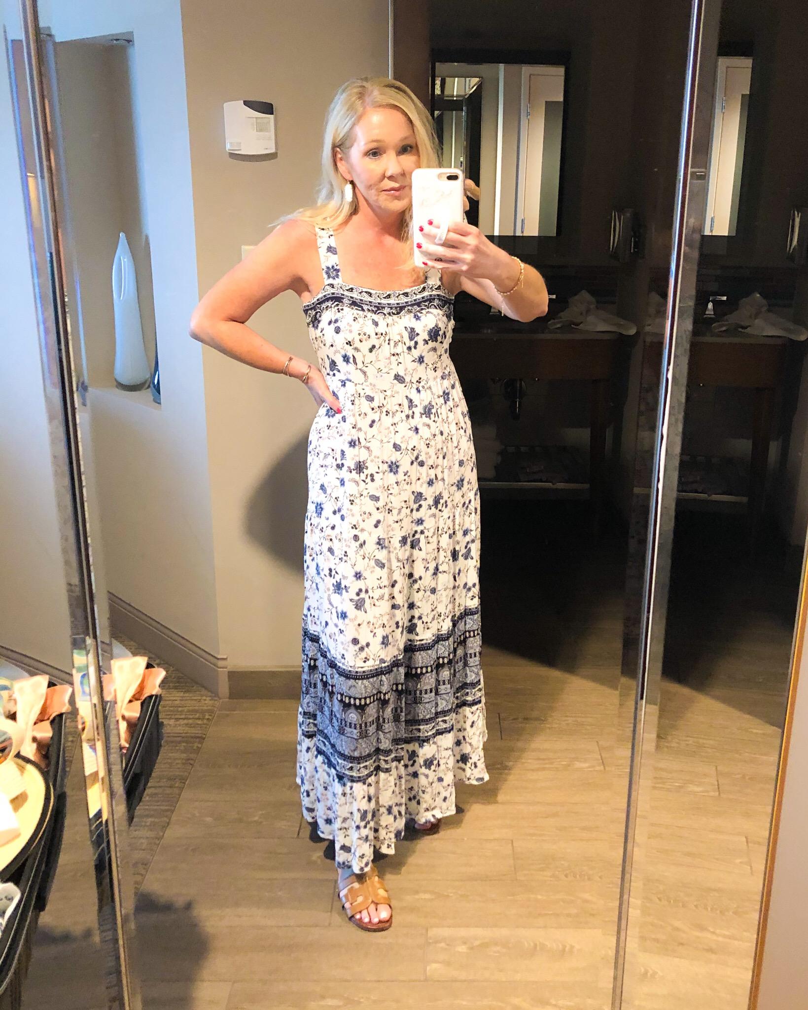 Target floral maxi dress misscrystalblog